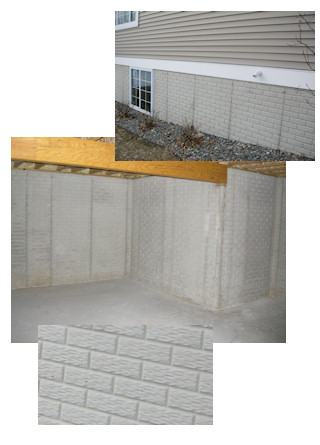 A r flatwork for Poured concrete basement walls
